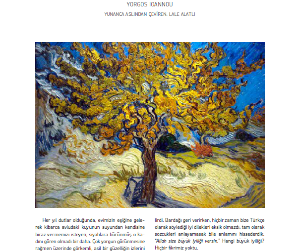 Short story translation: Evrensel Kultur Literature Magazine