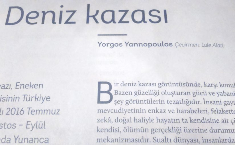 İanopoulos Yorgos – Deniz Kazası